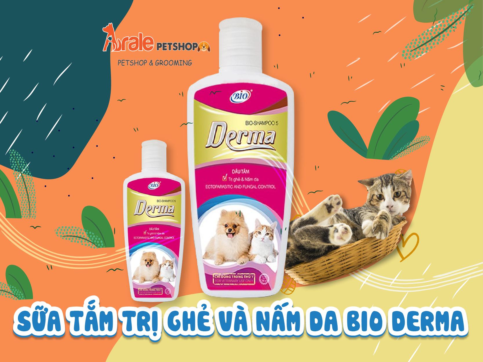 sữa tắm trị ghẻ, nấm da cho chó mèo
