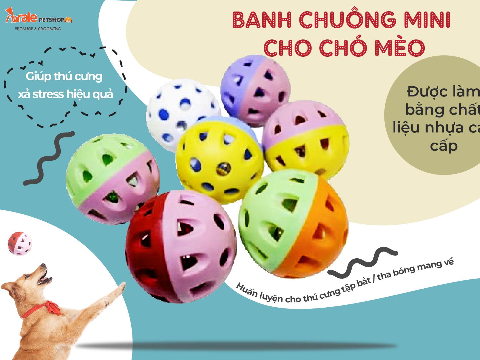 BANH CHUÔNG MINI CHO CHÓ MÈO