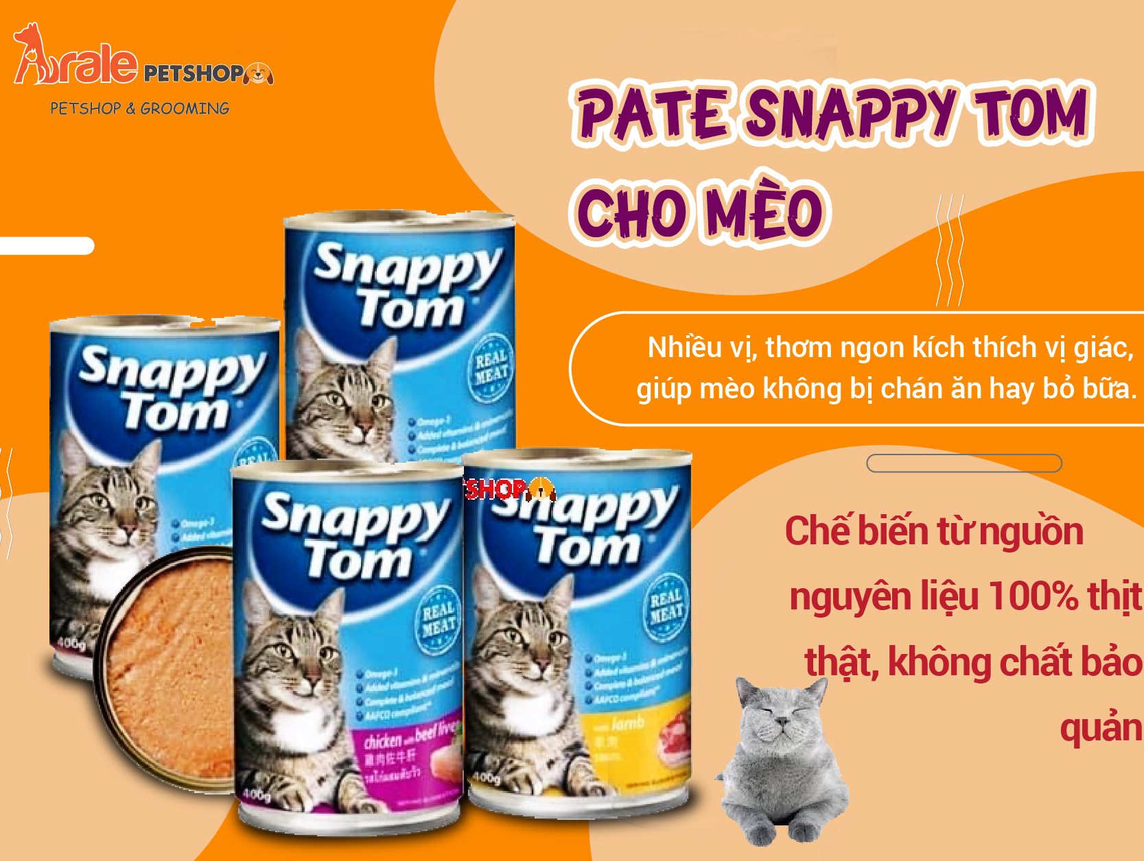 PATE SNAPPY TOM DÀNH CHO MÈO CON