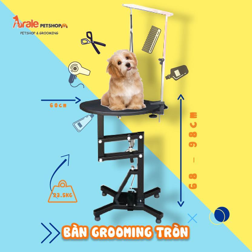 bàn grooming hỗ trợ cắt tỉa, tạo kiểu lông cho thú cưng chuyên nghiệp