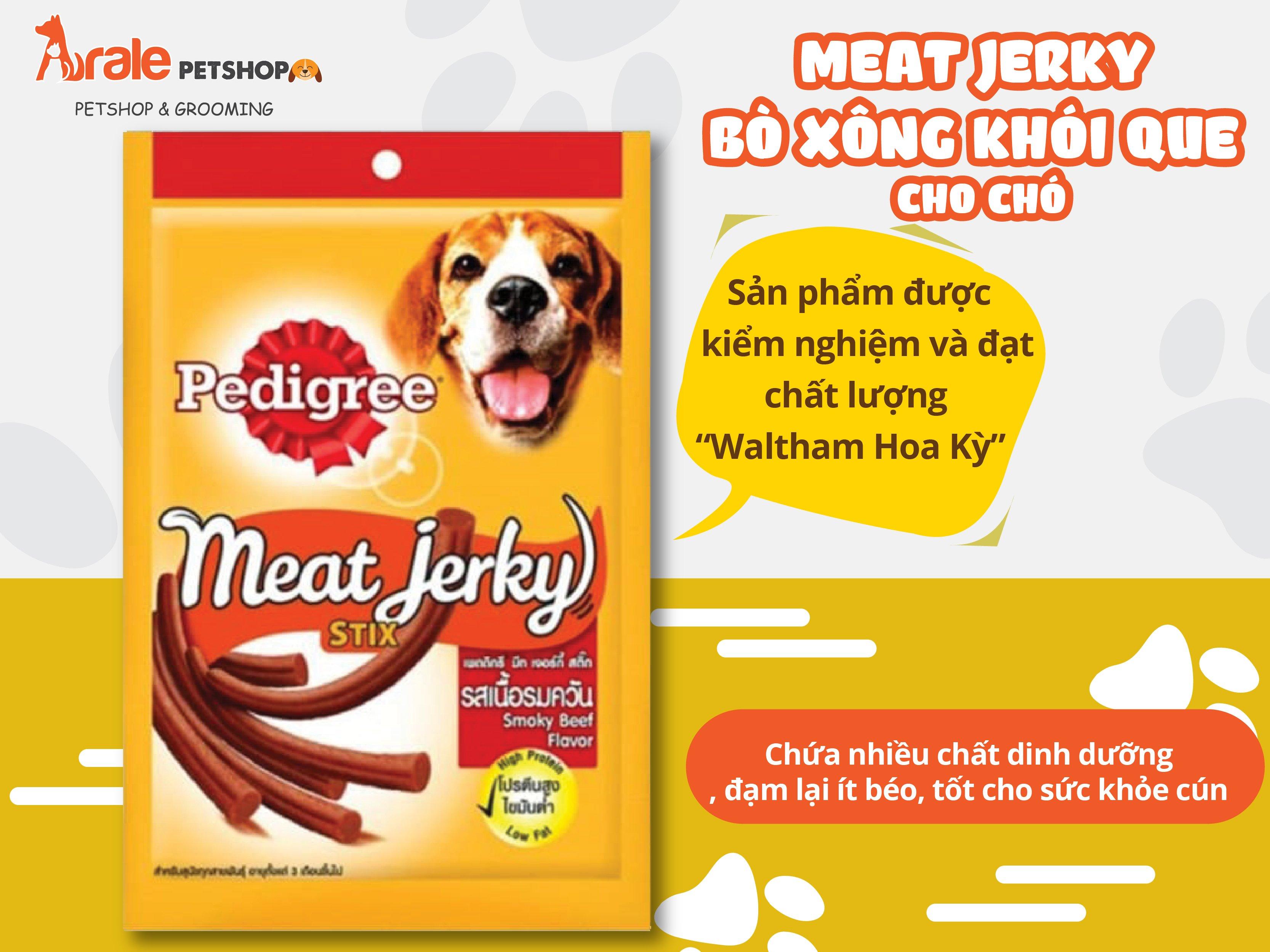 MEAT JERKY - BÒ XÔNG KHÓI QUE CHO CHÓ