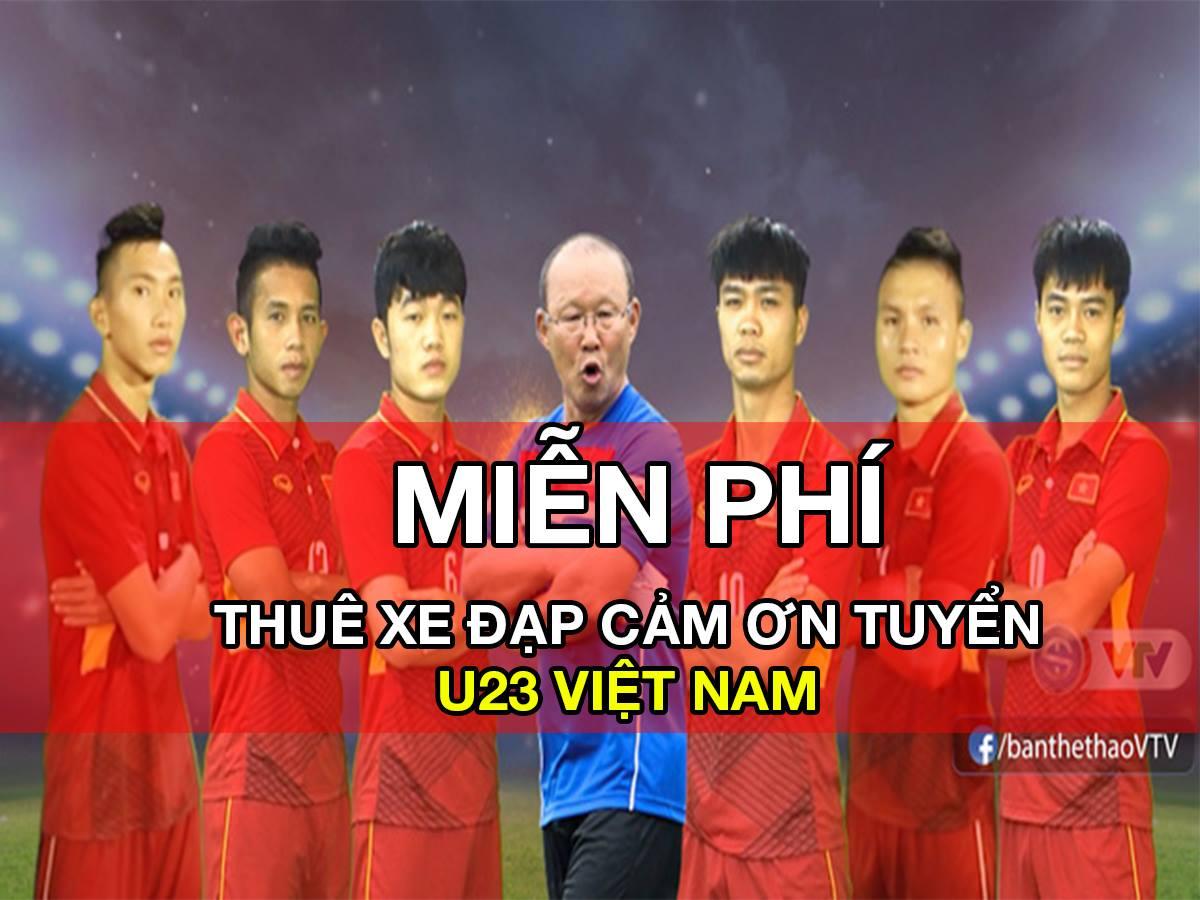 100 XE ĐẠP ĂN MỪNG CẢM ƠN TUYỂN U23 VIỆT NAM