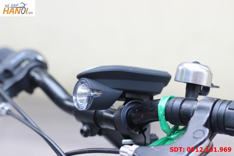 Đèn pin xe đạp Nhật - Sạc USB, năng lượng mặt trời