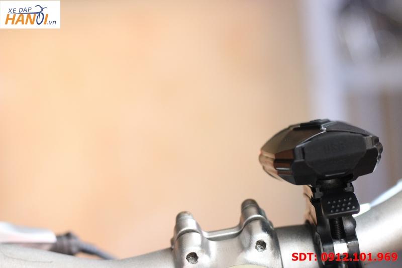 Đèn pha xe đạp siêu sáng (sạc USB)