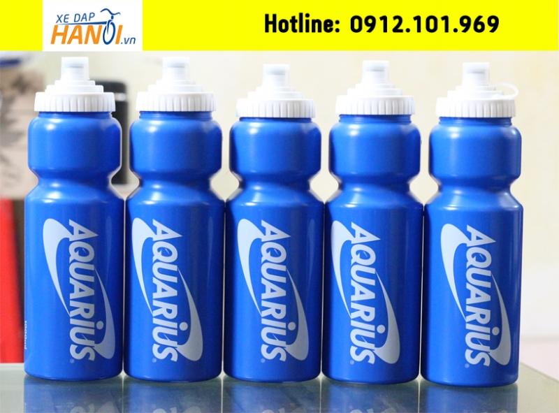 Bình nước thể thao Aquarius từ Cocacola Company - bình mút - Made in Japan
