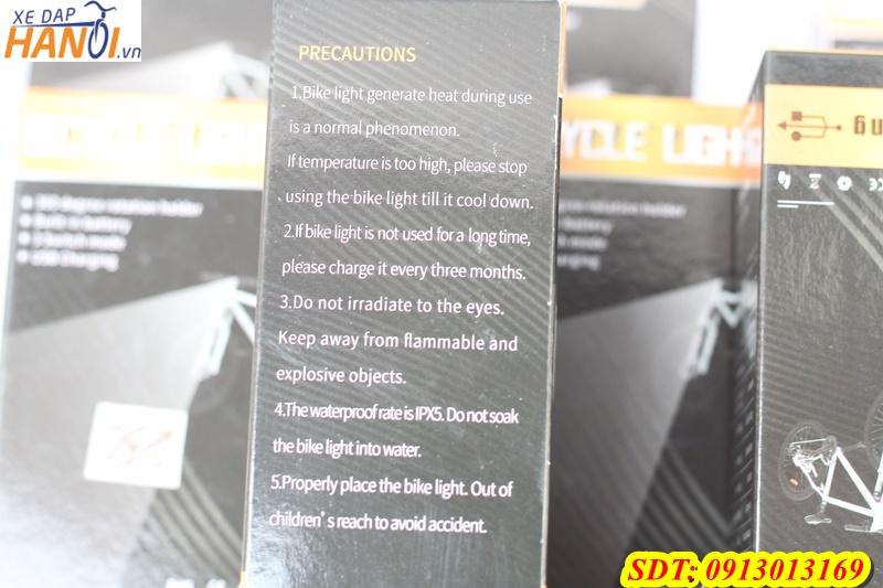 Đèn led 3 bóng sạc USB