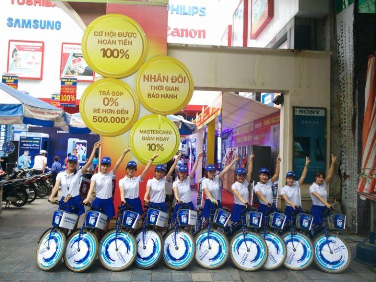 Roadshow xe đạp Samsung Galaxy J7 Pro – điện máy Nguyễn Kim