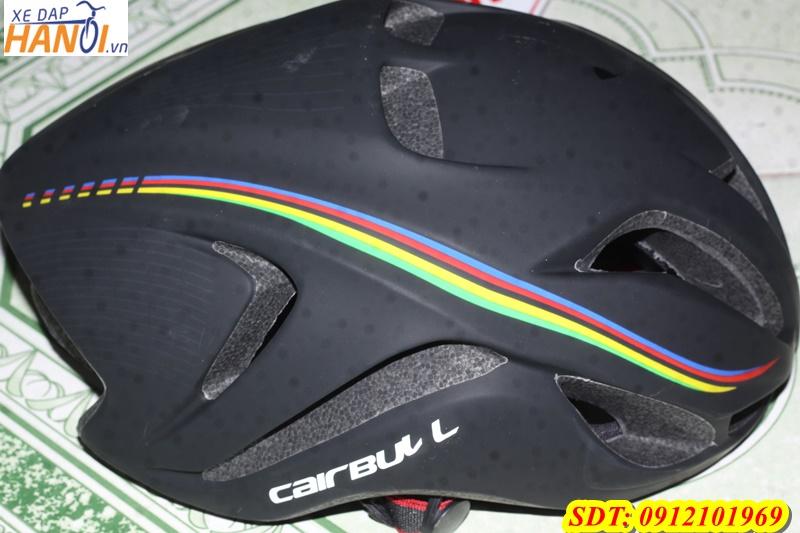 Mũ bảo hiểm xe đạp CAIRBULL MÀU ĐEN SỌC BẢY MÀU