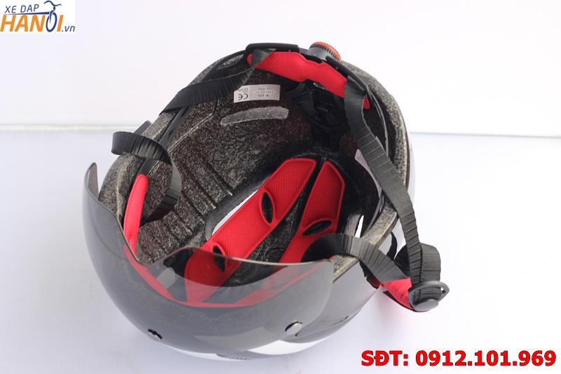 Mũ bảo hiểm xe đạp Paladineer có kính chắn gió - Xách tay từ Nhật Bản