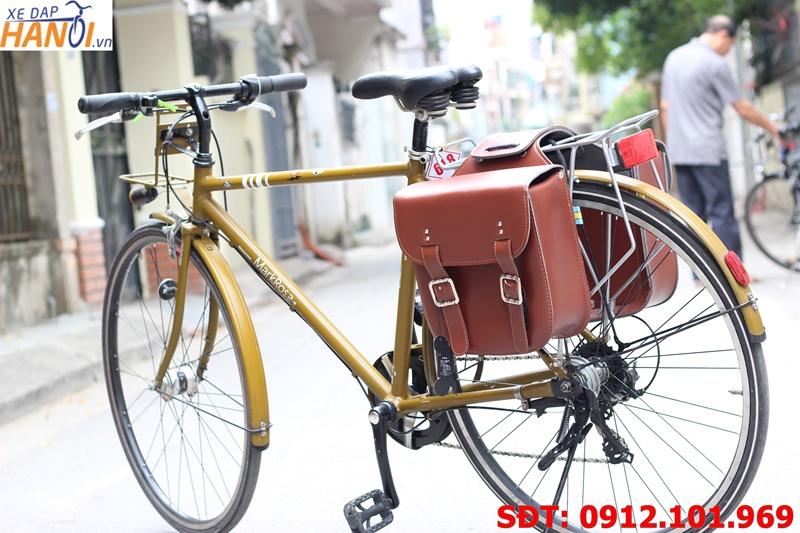 Túi da treo gác ba ga xe đạp