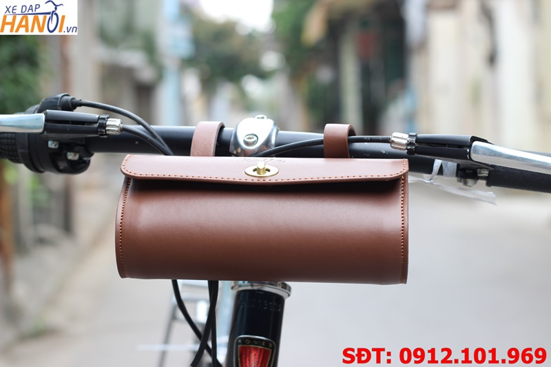 Túi da treo ghi đông, yên xe đạp