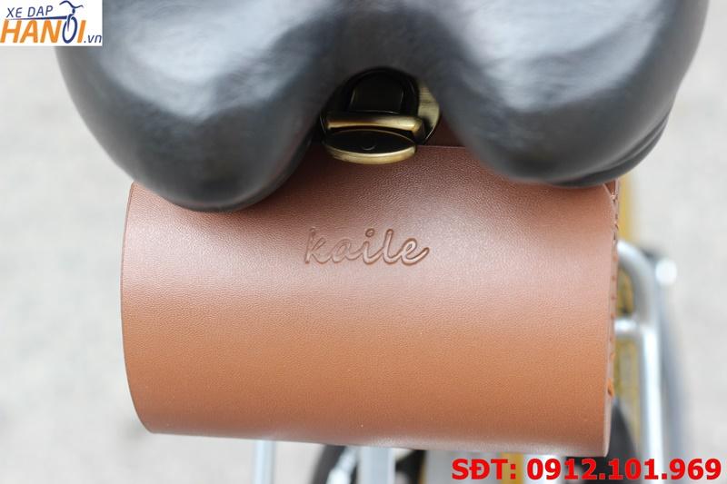 Túi da treo cọc yên xe đạp