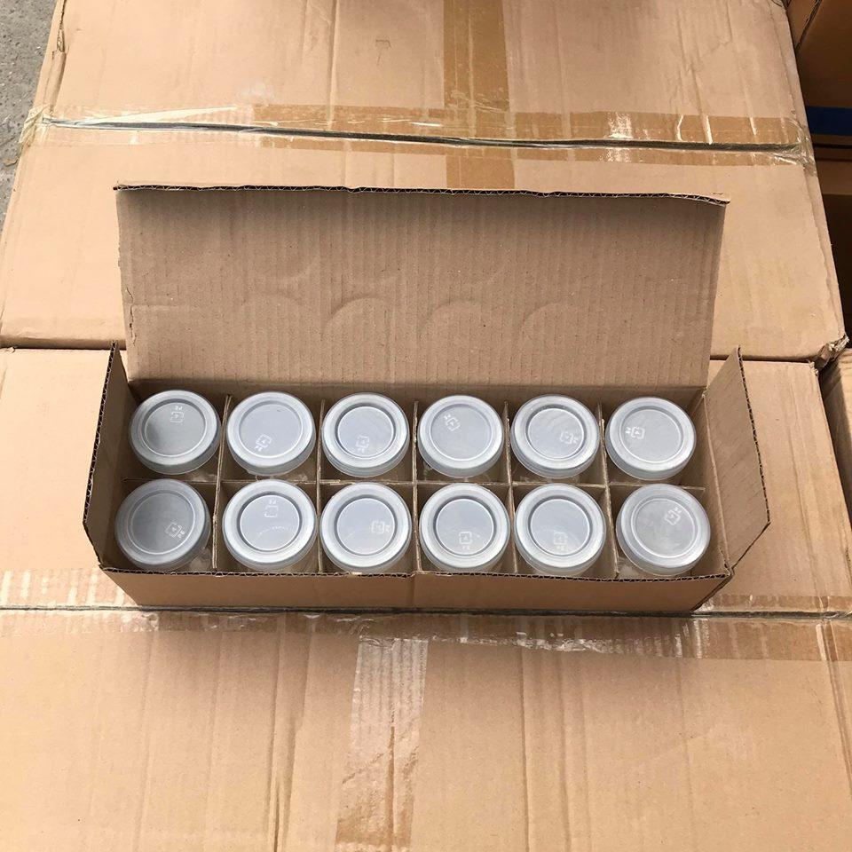 Hũ Đựng Sữa Chua 100ml Nắp Nhựa
