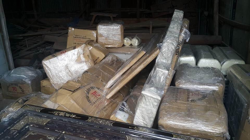Hình ảnh tài sản thiết bị được đóng gói ở dịch vụ vận chuyển giá rẻ