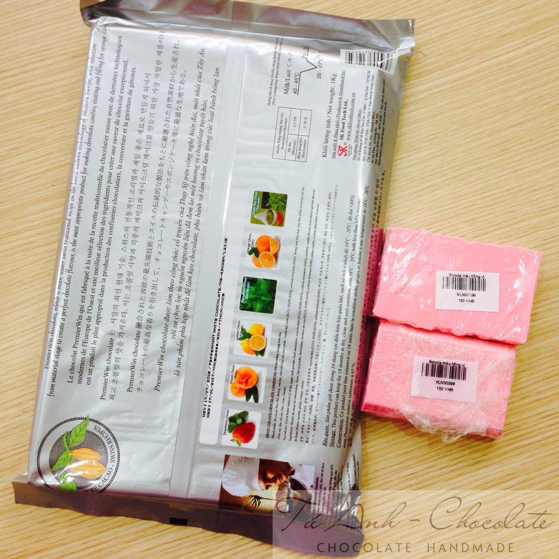 Socola hồng vị dâu