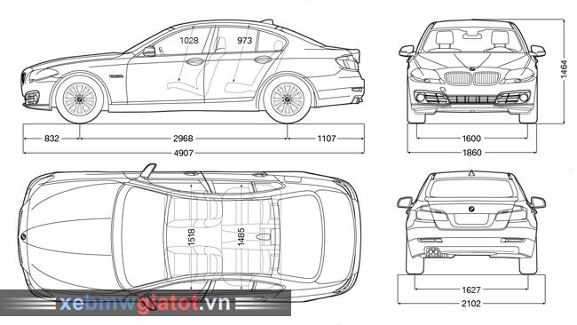 kích thước xe BMW 520i sedan