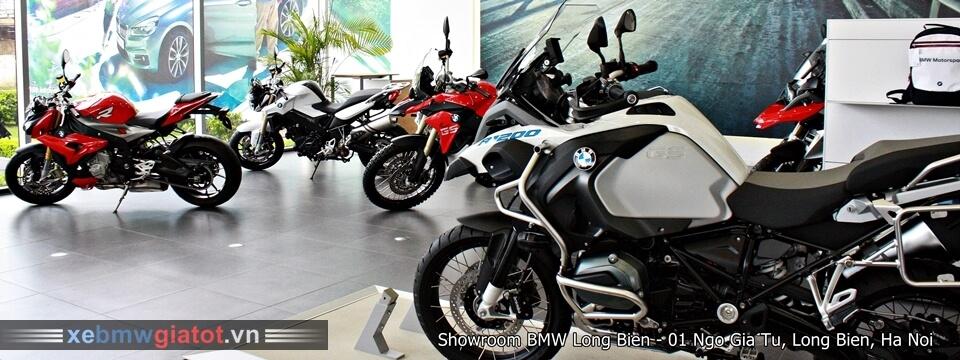 Khu vực xe motor của BMW Long Biên