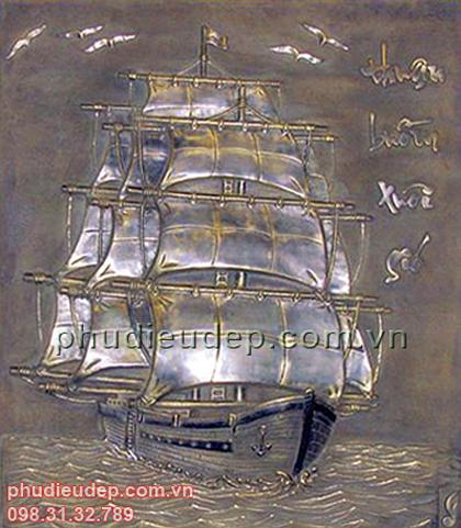 tranh phù điêu thuận buồm xuôi gió