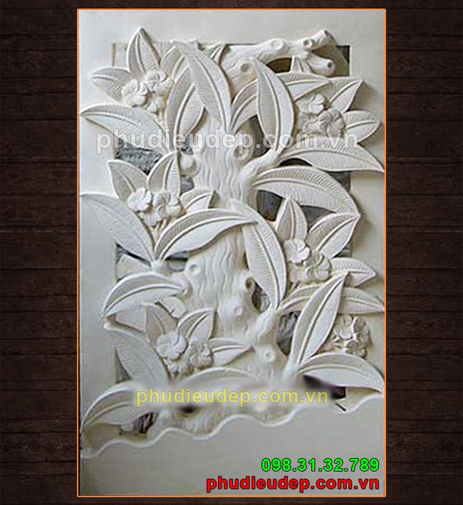 Phù điêu hoa đại composite giá rẻ tại HN | Điêu Khắc TN Hà Nội