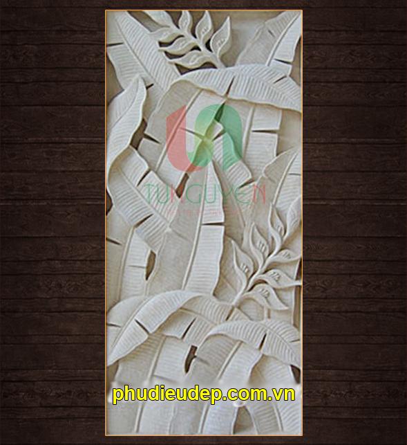 Phù điêu hoa chuối chất liệu nhựa composite - Mỹ thuật TN