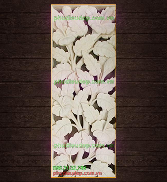 Phù điêu hoa lá 020 tranh composite 3D Hà Nội