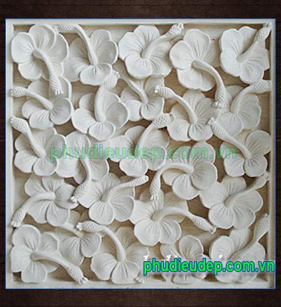 Phù điêu hoa lá chất liệu composite xi măng