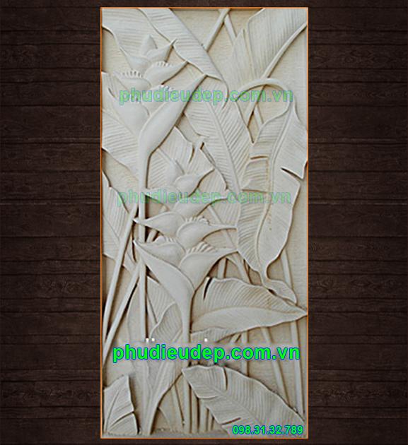 Phù điêu hoa chuối Composite | Tranh phù điêu Hà Nội