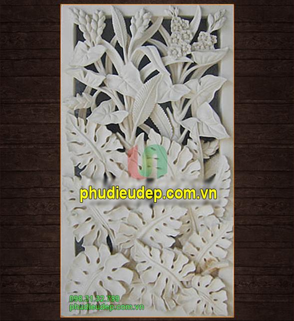 Phù điêu hoa lá composite - Tranh phù điêu Hà Nội