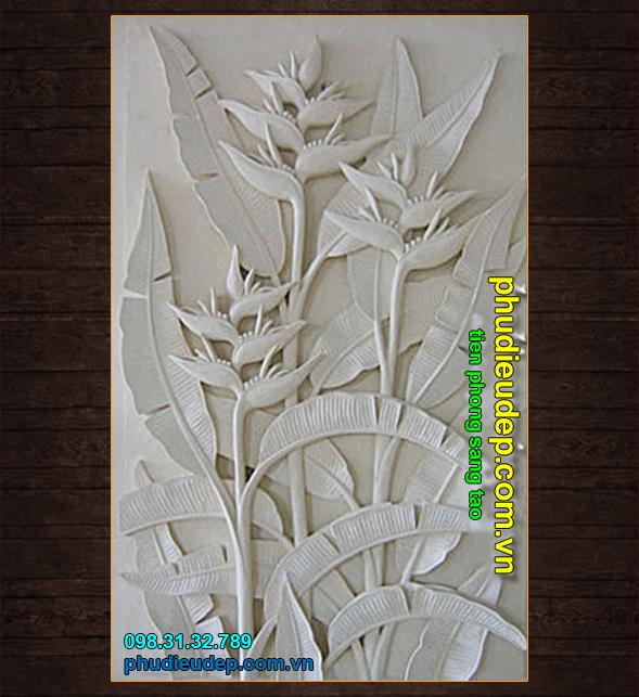 Tranh Phù điêu hoa chuối 037 | Tranh phù điêu Hà Nội - tpHCM