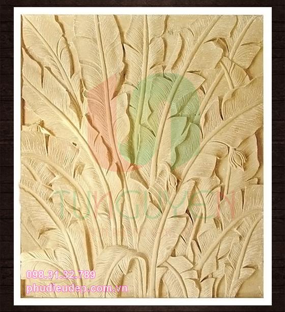 Phù điêu hoa chuối 038 chất liệu composite, xi măng | Mỹ thuật TN