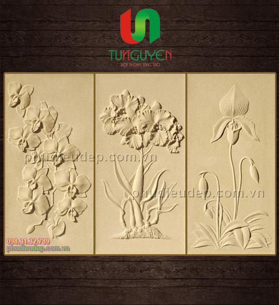 Phù Điêu Hoa Lan 001 chất liệu Composite, Xi măng | Mỹ thuật TN