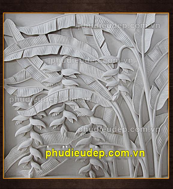 Phù điêu hoa chuối (Hoa tràng pháo) 043