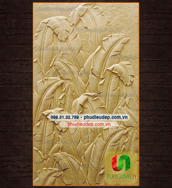 Phù điêu lá chuối composite, xi măng | Điêu Khắc TN Hà Nội