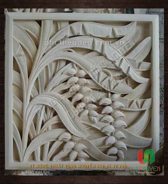 Phù điêu hoa chuối composite (điêu khắc Hà Nội)