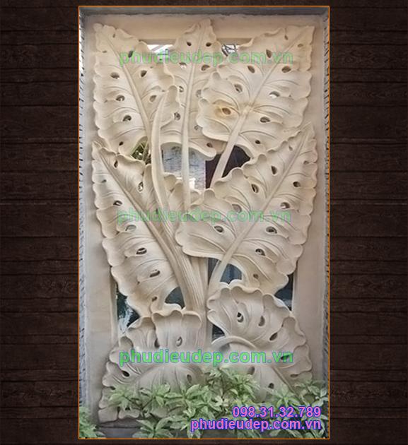 Tranh phù điêu lá ráy 053 chất liệu nhựa Composite