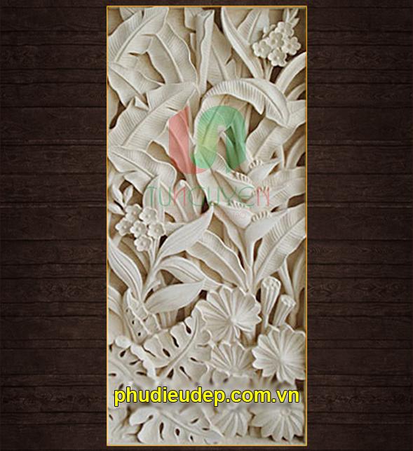 Phù điêu hoa chuối (Hoa tràng pháo) 057