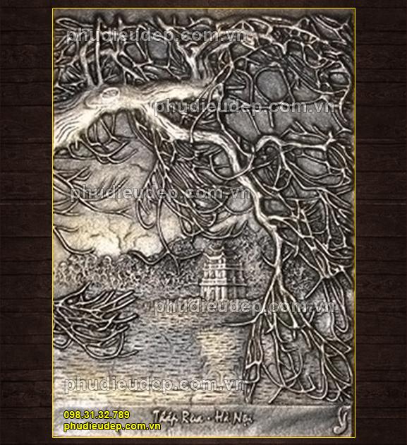 Phù điêu tháp rùa Hồ Gươm