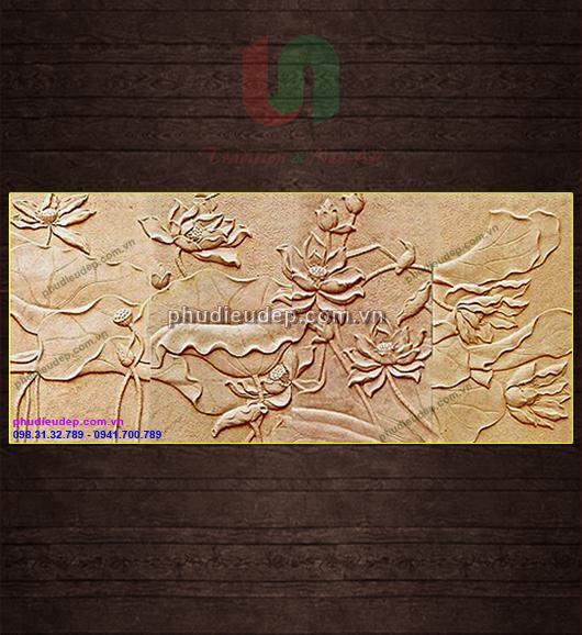 Tranh phù điêu Hoa Sen composite tại Hà Nội