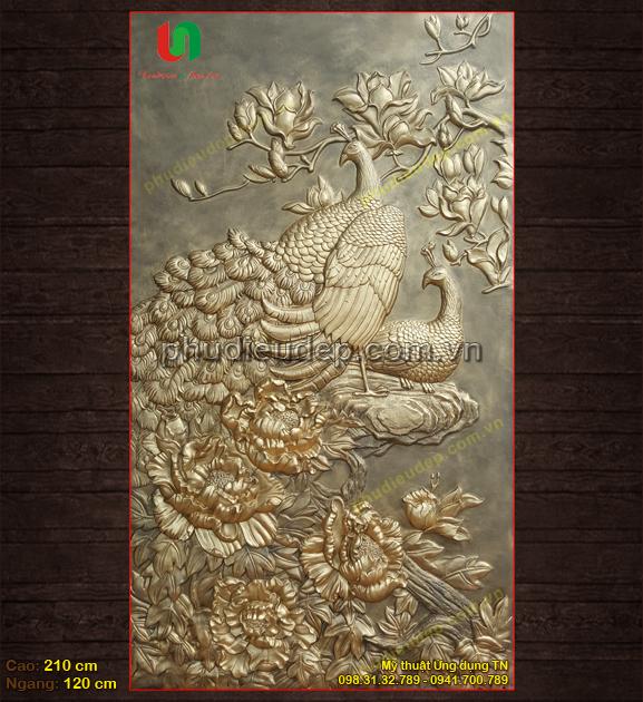 tranh phu dieu hoa mau don va chim cong gia re tai ha noi