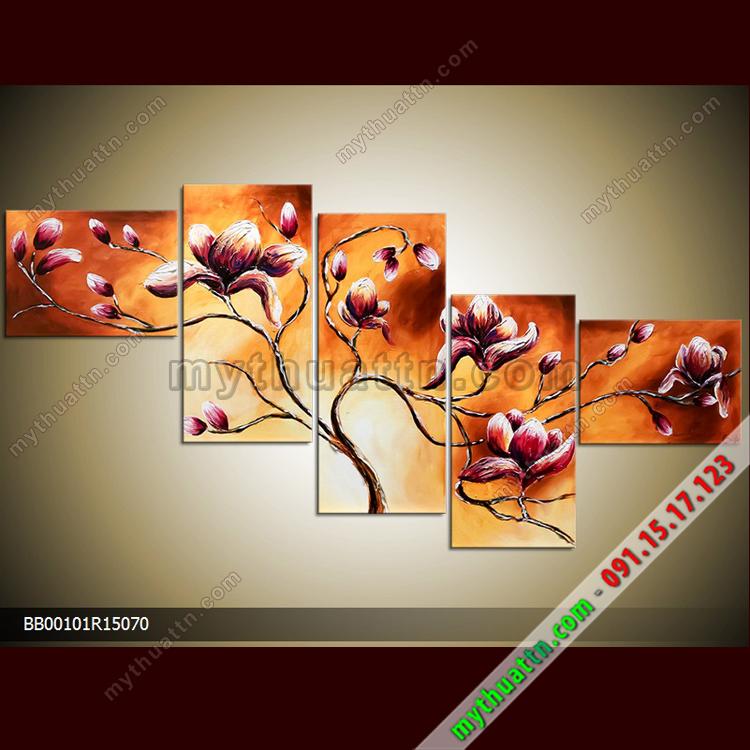 Tranh hoa bộ 5 tấm