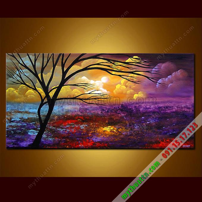 Tranh bộ phong cảnh sơn dầu