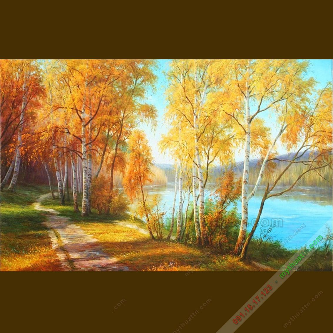 Tranh sơn dầu phong cảnh mùa thu