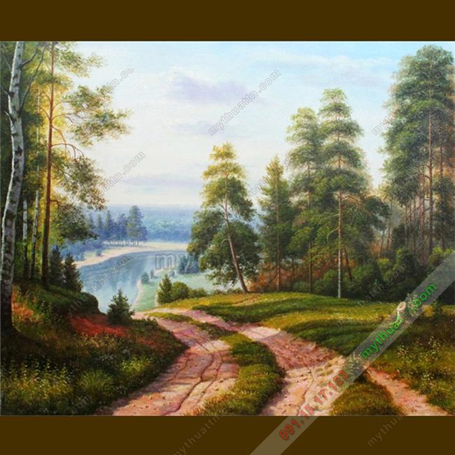 Tranh sơn dầu phong cảnh nước ngoài