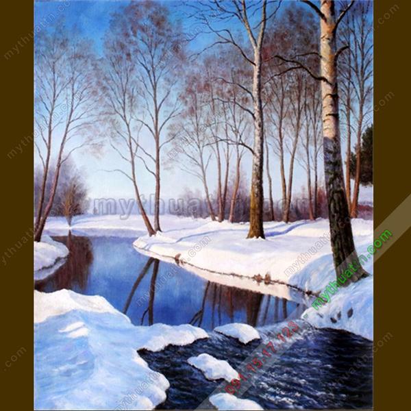 Tranh phong cảnh mùa đông