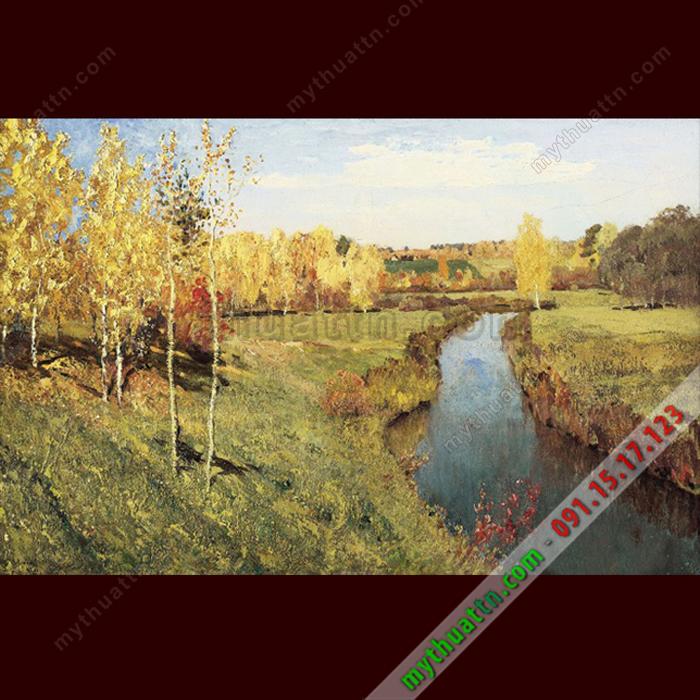 Tranh phong cảnh mùa thu vàng