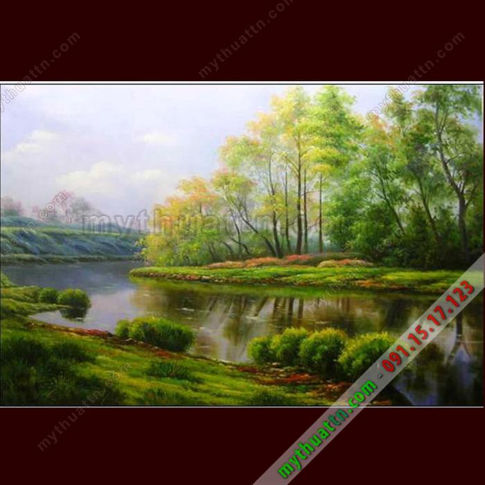 Tranh phong cảnh chất liệu sơn dầu