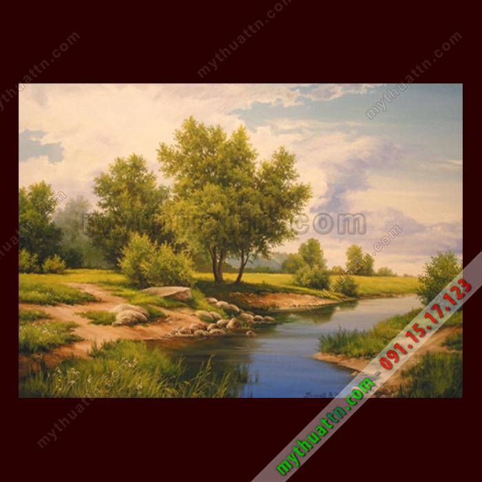 Tranh phong cảnh đẹp sơn dầu