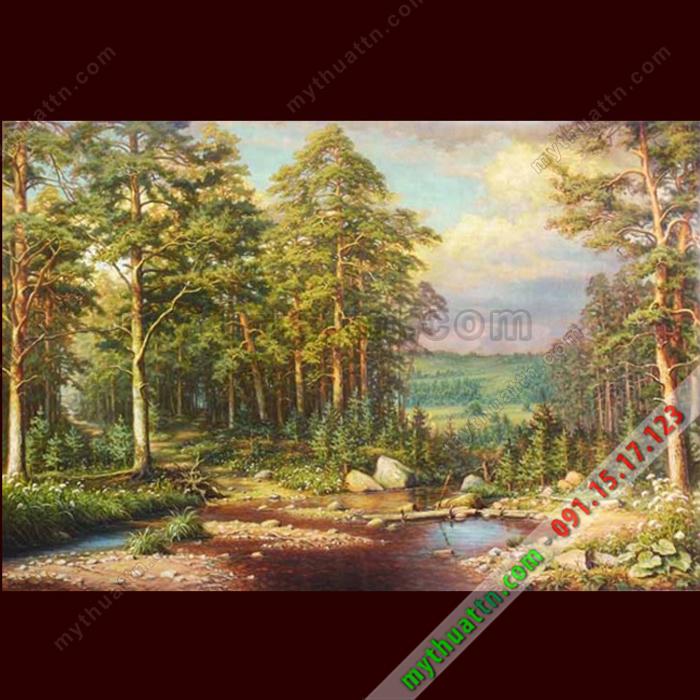 Tranh sơn dầu phong cảnh châu Âu