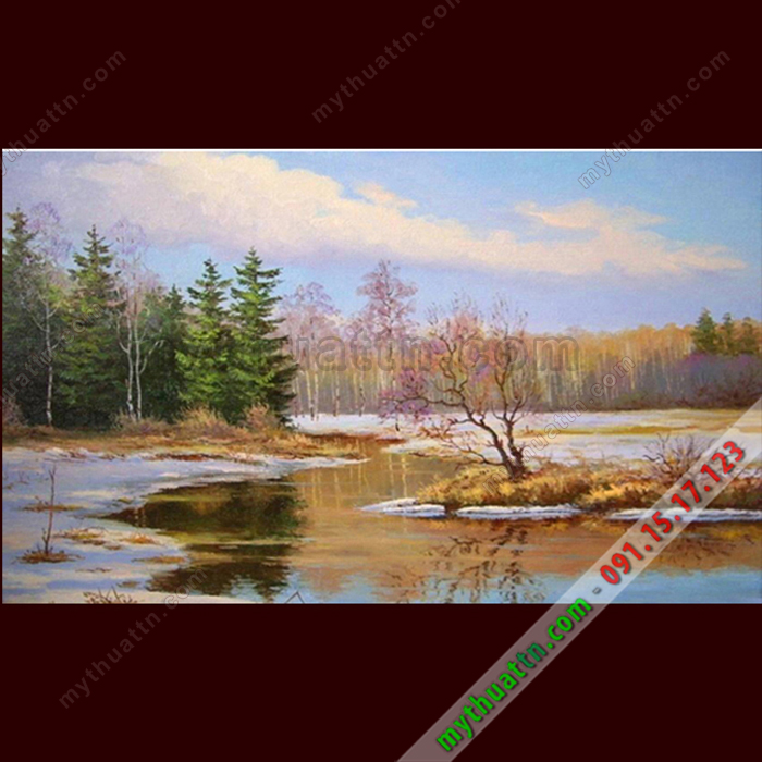 Tranh phong cảnh sơn dầu 068