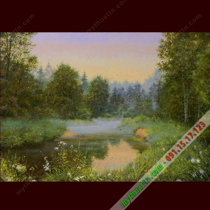 Tranh phong cảnh sơn dầu 070